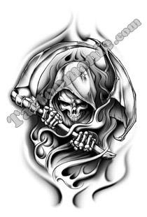 Tattoomanie tatouage la grande faucheuse - Tatouage la faucheuse ...