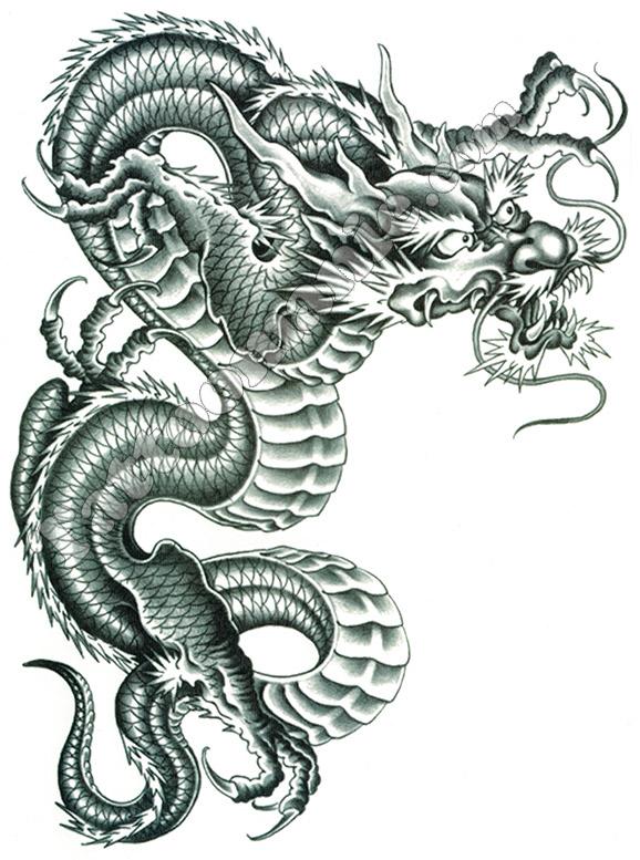 Tatouage Temporaire Dragon Chinois Geant Sur Tattoomanie Com